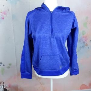 Youth XL girls under armour 3/4 zip hoodie